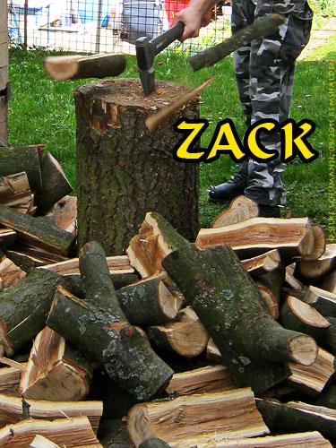 Holz hacken - zack