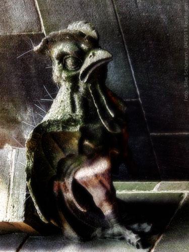 Gargoyle Vogel (90° gedreht)