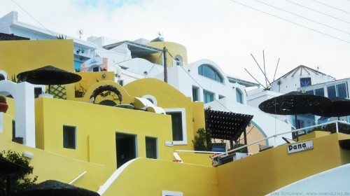 Santorini Stadtansichten