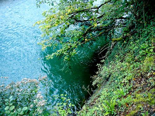 Leuchtende Wasserfarbe Türkis des Vierwaldstätter Sees