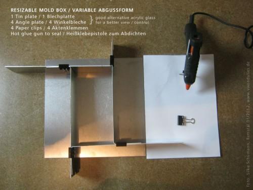 Resizable Mold Box / Variable Abgußform