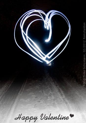 Herz zum Valentin 2012 (Lichtmalerei)