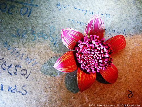 Eine Papierblume