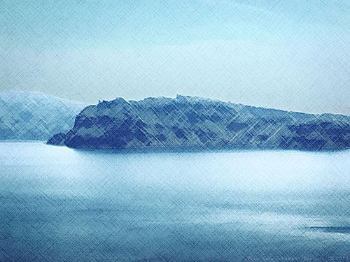 Santorini Küste