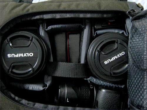 Tamrac - Objektive via Frontlasche