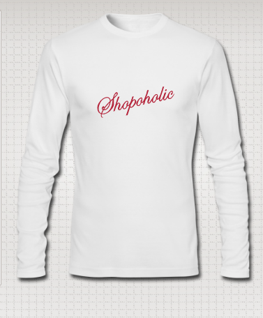 shirt with shopoholic
